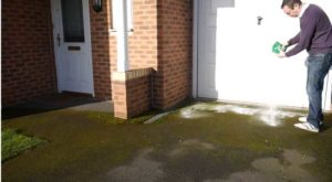 How to remove moss from asphalt driveway